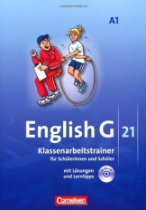 English G 21 - Ausgabe A: Band 1: 5. Schuljahr - Klassenarbeitstrainer mit Lösungen und CD - 1