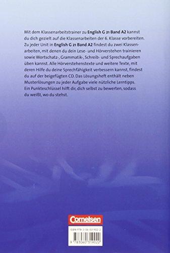 English G 21 - Ausgabe A: Band 2: 6. Schuljahr - Klassenarbeitstrainer mit Lösungen und CD - 2