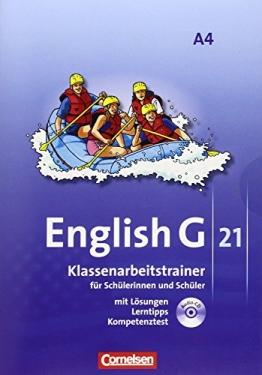 English G 21 - Ausgabe A: Band 4: 8. Schuljahr - Klassenarbeitstrainer mit Lösungen und CD - 1