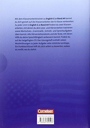 English G 21 - Ausgabe A: Band 4: 8. Schuljahr - Klassenarbeitstrainer mit Lösungen und CD - 2