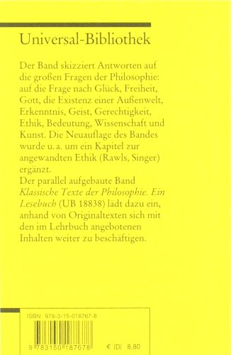 Philosophie: Ein Lehrbuch (Reclams Universal-Bibliothek) -