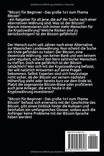 Bitcoin für Beginner: Das grosse 1x1 zum Thema Bitcoin - Smart Contracts, Blockchain, Handel, Wallet und Hintergrundinfos - 2