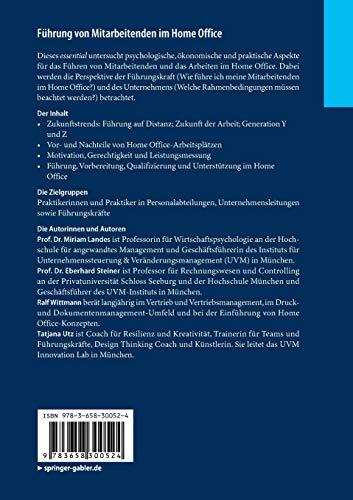Führung von Mitarbeitenden im Home Office: Umgang mit dem Heimarbeitsplatz aus psychologischer und ökonomischer Perspektive (essentials) - 2