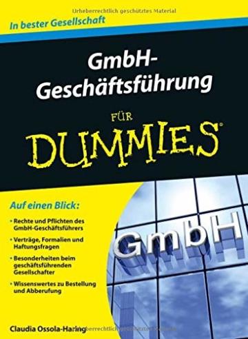 GmbH-Geschäftsführung für Dummies -